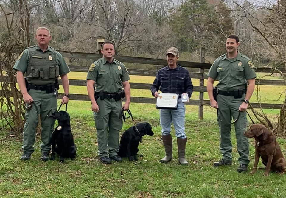 Virginia Department of Wildlife Resources for recognizing WBWF in support of their K9 program